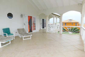 Patio off of the lounge and main bedroom