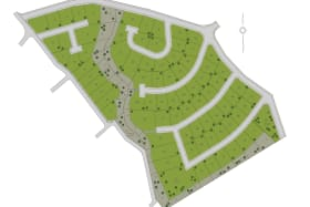 Site Plan of the 78 Lots at Vineyard Development
