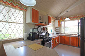 Spacious kitchen with lots of natural light