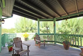 Patio with country views