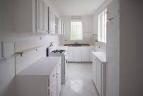 Updated kitchen in one of the bathrooms