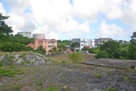 Concrete base on the lot