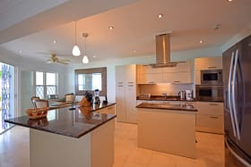 Modern kitchen with stainless steel appliances