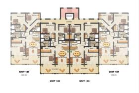 Floor plan of 101 - 4 units per level