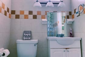 Jack and Jill bathroom for main and second bedroom