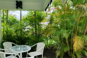 Private patio ideal for relaxing and dining