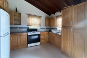 Spacious kitchen with ample cabinetry