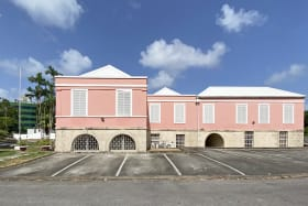 Attractive facade with ample parking