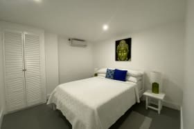 Bedroom in one of the apartments