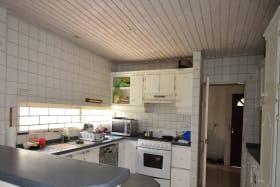 Kitchen on upper level