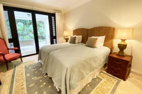Guest bedroom 2 with en suite and shared terrace