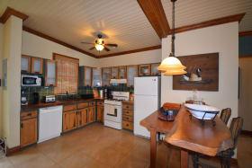 Open plan kitchen and breakfast bar