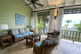 Comfortable living area on terrace