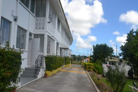 Entrance to the parking area