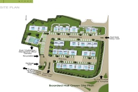 Site plan showing the location of unit 102 to the south