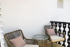 Seating area on the patio