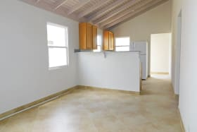 Open plan living dining and kitchen with appliances - Will be FURNISHED