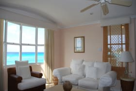Living area with see views