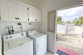 Laundry Area at Back Door