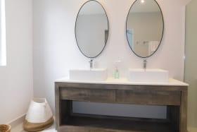 Double vanity in the main bathroom