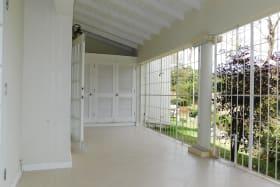 Spacious enclosed patio