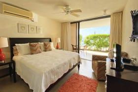 Bedroom with sliding door to patio