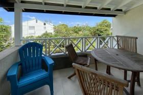 Patio with Garden & Partial Ocean View