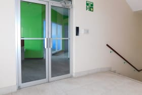 Main Entrance door to the space