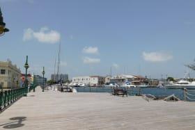 Boardwalk overlook the Careenage in Bridgetown