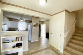 Open area leading to kitchen/ first floor