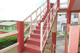 One flight of steps to the apartment