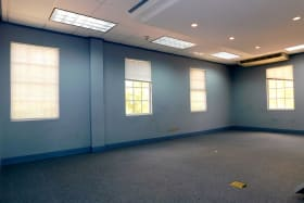 Large office spaces with ample natural light