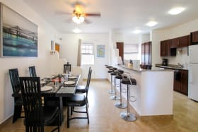 Formal dining and breakfast bar