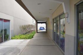 Corridor to the washrooms