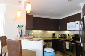Modern kitchen with full appliance package