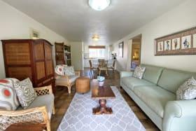 Comfortably furnished living room