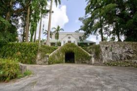 Elegant Entrance Via Double Stairways