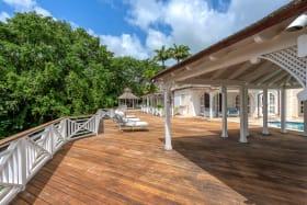 170ft hard wood, cantilevered, entertaining deck with pool gazebo and a monkey spotting gazebo