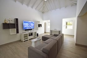 Tv area with Sky light to enhance the natural lighting