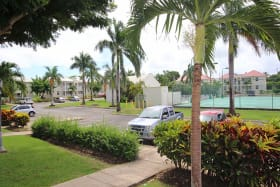 View from the patio - to pool and tennis courts