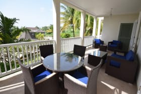 Spacious Terrace overlooking the gardens & pool