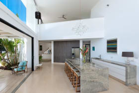 Modern Kitchen with Double Vaulted Ceilings