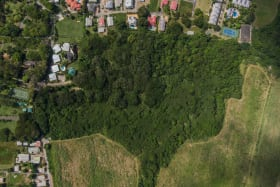 Close shot showing Eastry Gardens which is adjacent to the land