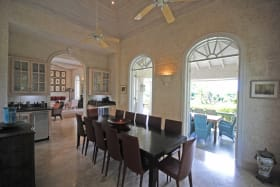 Formal dining room opens to covered verandah