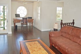 Cottage Upstairs Living area with office nook