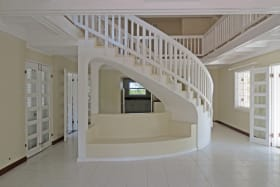 Living area and staircase