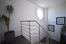 Attractive stairwell to first floor