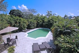 Large pool deck with utmost privacy