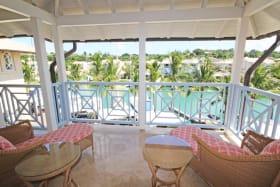 Front patio facing the lagoon