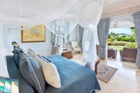 Ground floor bedroom suite with garden views